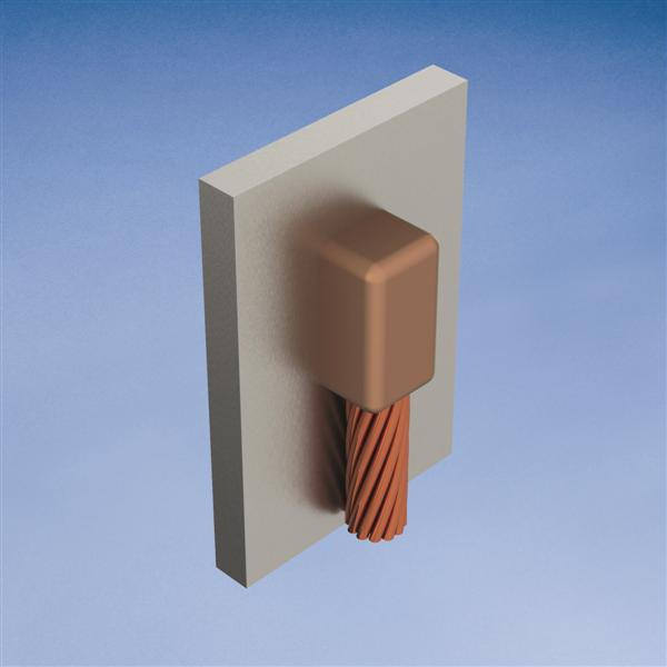 Erico VBC1T 2 AWG to 24 Inch Cable Down to Vertical Steel Surface Mold