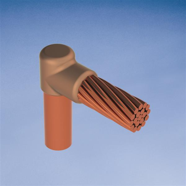 Erico GRC182C 3/4 Inch Copper Clad Threaded Cable to Ground Rod Mold