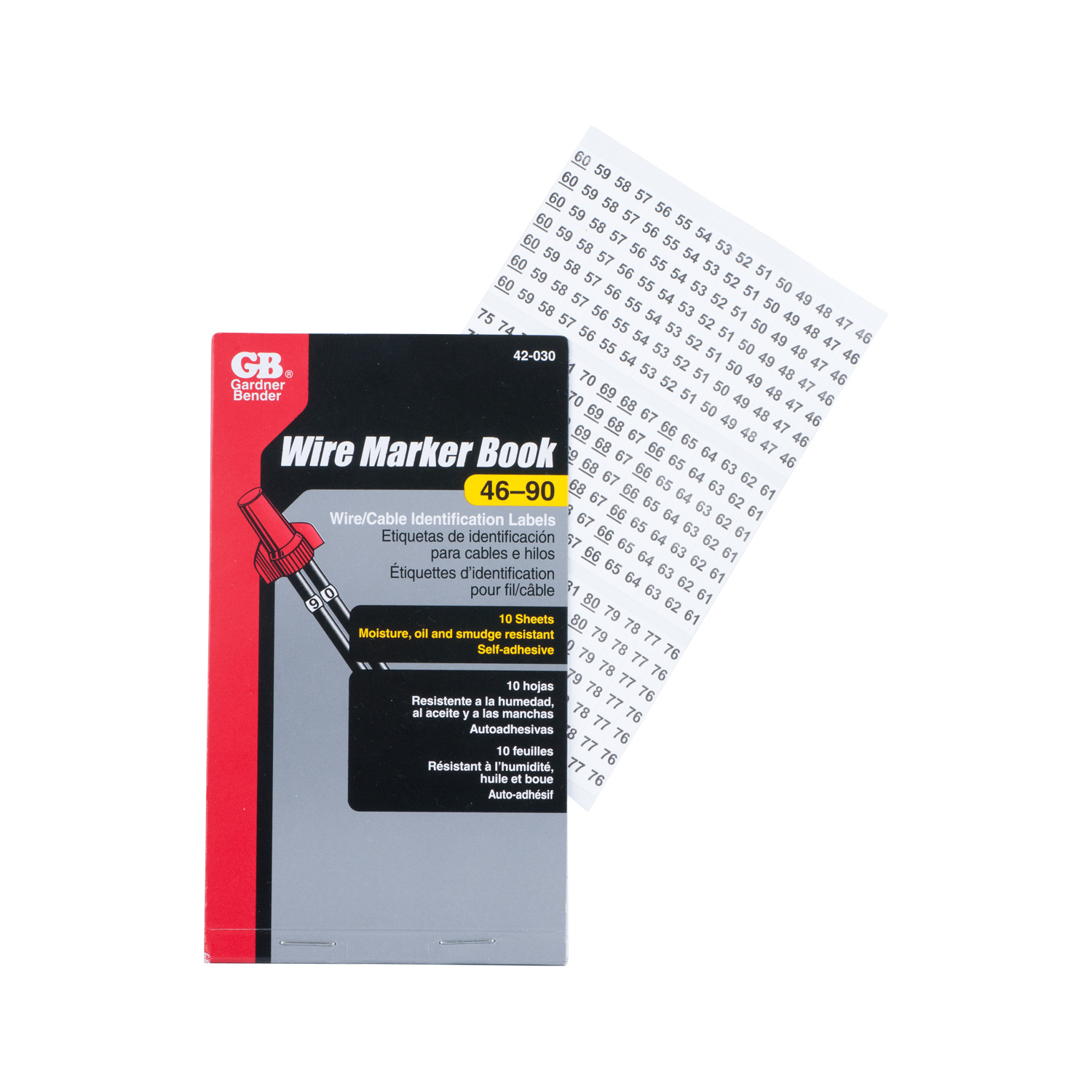 Mayer-Pocket-sized booklets of cloth wire markers and matching terminal markers.-1