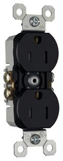 PASS 3232TRBK 15A 125V DPLX RCPT