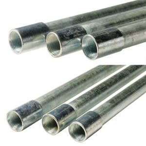 "GAL050 1/2"" GALV RIGID STEEL CONDUIT (cap:black)"