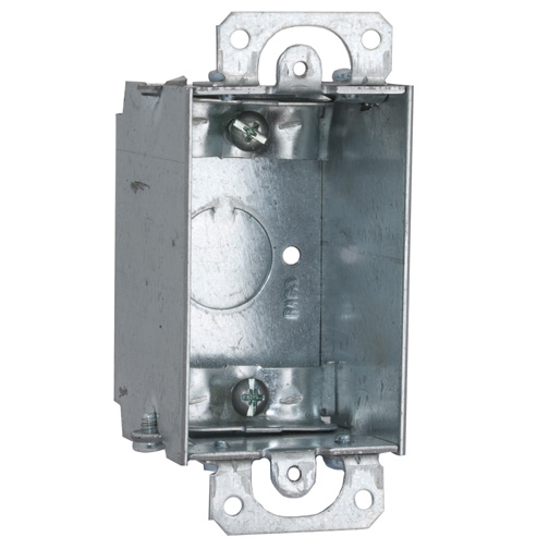 2 in. Deep Switch Box - Gangable with Nonmetallic Sheathed Cable Clamps Plaster Ears