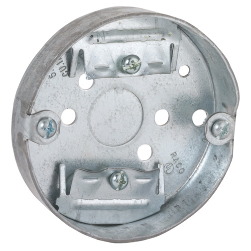 3-1/2 in. Round Ceiling Pan - Drawn with Nonmetallic Sheathed Cable Clamps 3/4 in. Depth