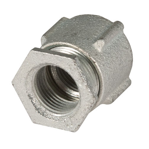 3 Piece Couplings Malleable Iron, 1-1/2 in.