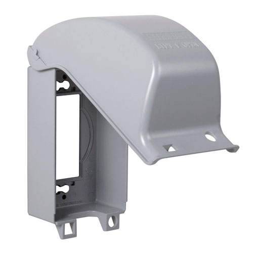 TAYMAC MX3200 ONE GANG VERTICAL 8 IN 1 IN-USE COVER GRAY