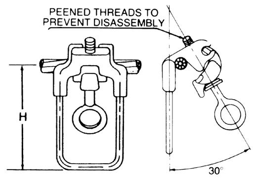 anderson ahls 0 acsr aluminum stirrup clamp