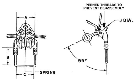 chance esc50020 stirrup clamp