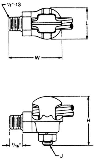 ab chance gtcs41 brnz ground clamp