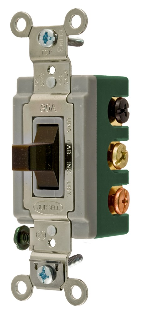 hubbell hbl1388 dpdt 30amp brown ac switch