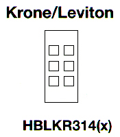 HPW HBL317SWA MOD FACE PLATE, 6-POR