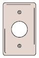 """HWDK SCH7 WALLPLATE, 1-G, 1.40"""" OPE"""