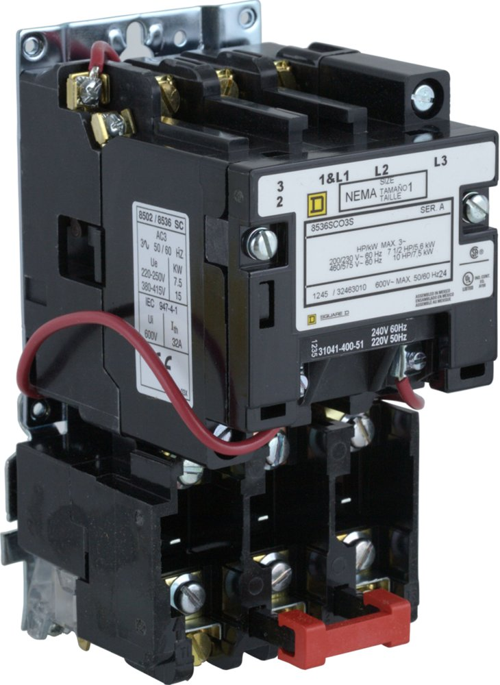 8054598_imageURL controls industrial & motor controls starters nema non combination square d size 1 starter wiring diagram at bayanpartner.co