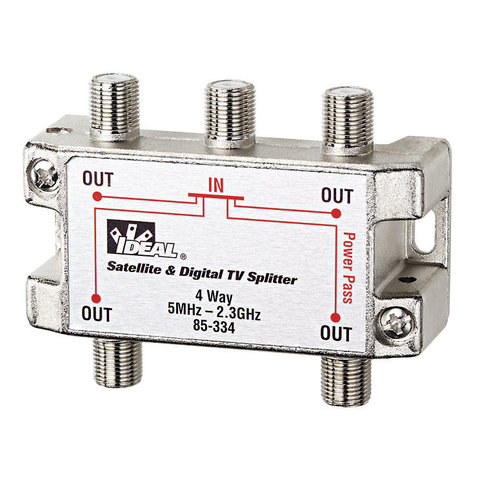 4-Way, HD Digital Cable / Satellite Splitter, 5MHz - 2.4 GHz