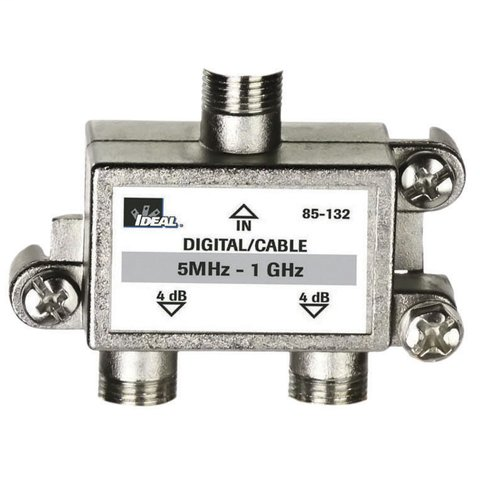 2-Way, Digital Cable Splitter, 5 MHz - 1 GHz