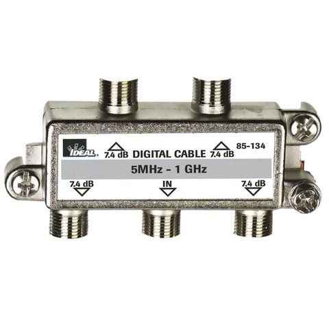 4-Way, Digital Cable Splitter, 5 MHz - 1 GHz