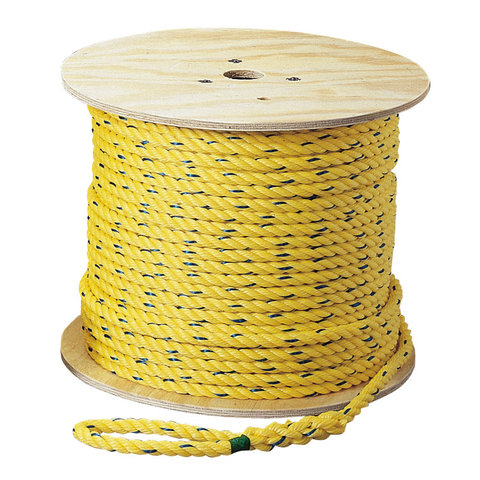 Ideal Industries 31-844 3/8 Inch x 250 Foot Yellow/Blue Tracer Low Friction Polypropylene Cable Pulling Rope