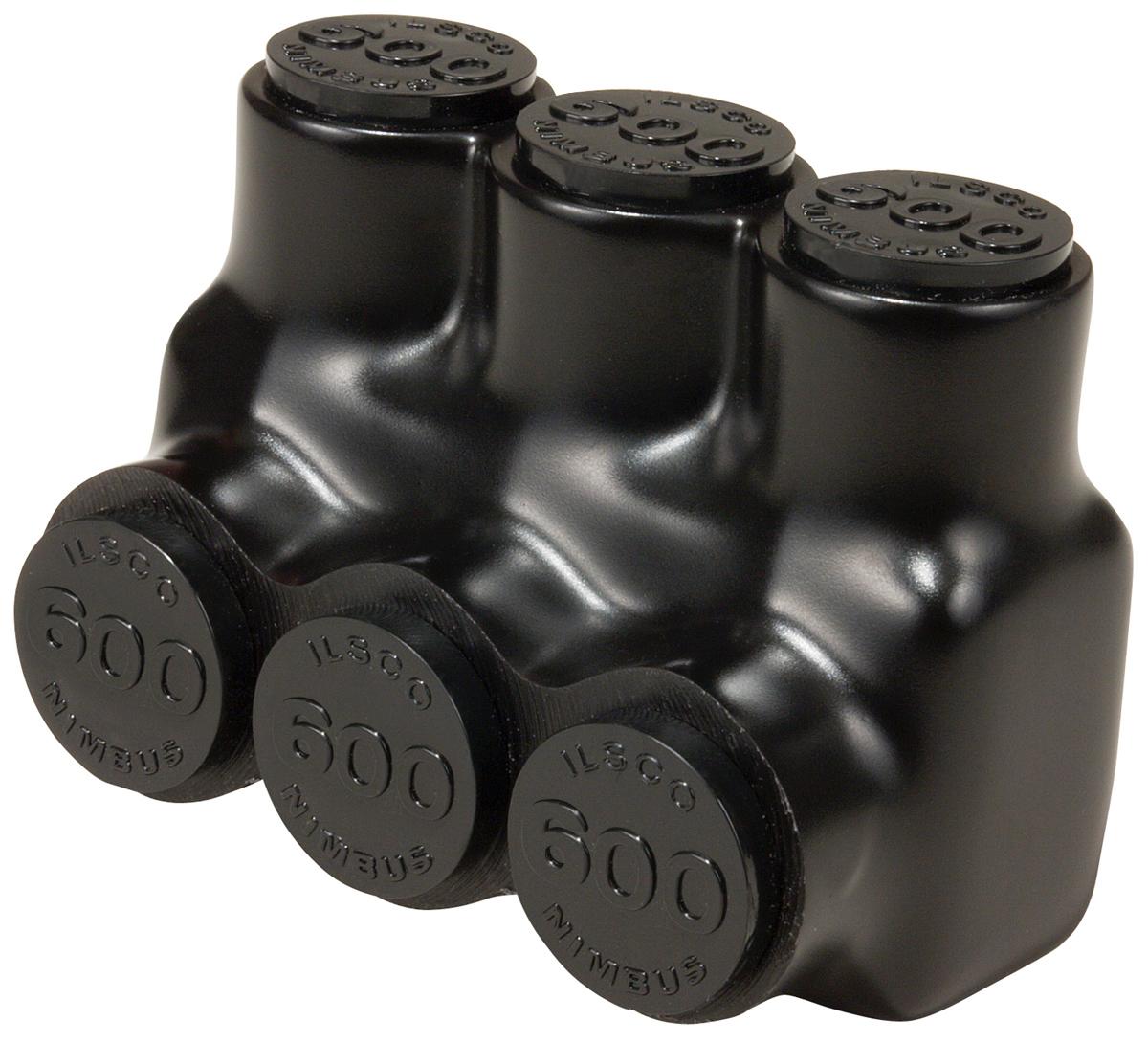 Ilsco,PBTS-3-1/0,INSUL AL MECH (3) 1/0-14 SGL TUL CSA