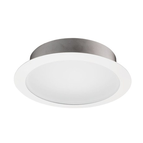 239 Wh 6 Inch Frosted Lens W White Reflector Trim Ring Shower Light Recessed Downlighting