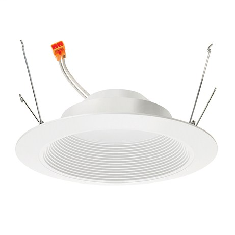 Mayer-Juno Basics Series 6-Inch Retrofit LED 3000K 90 CRI 600 Lumens White Baffle White Trim ring-1
