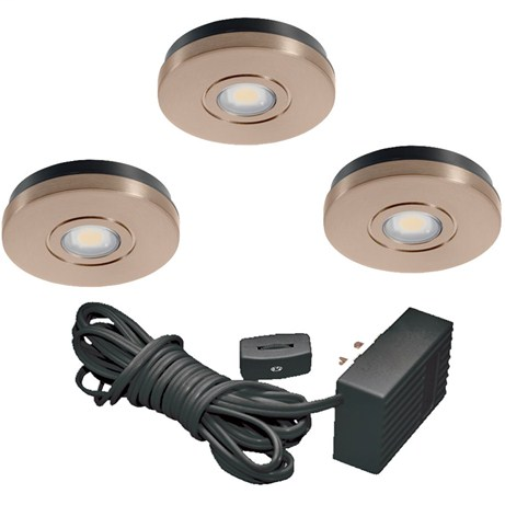 JUN UK3STL-3K-WH LED PUCK LT KIT