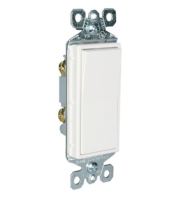 Mayer-15A, Single-Pole TradeMaster® Decorator Switch, White-1