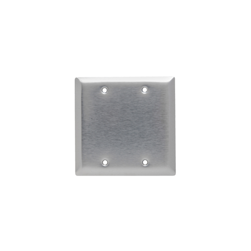 Legrand SL23 Smooth Metal Wall Plate, 2Gang Blank, Box Mounted, 430 Stainless Steel