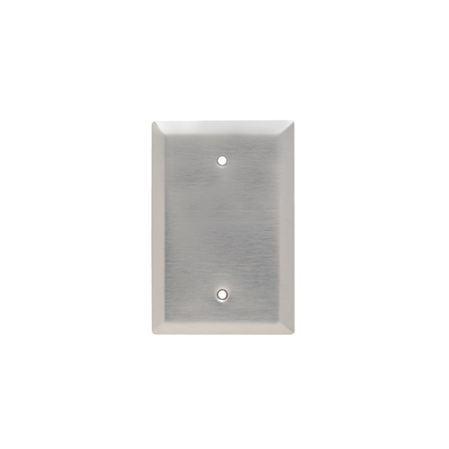 Blank Plate -- Box Mounted, One Gang, 302/304 Stainless Steel