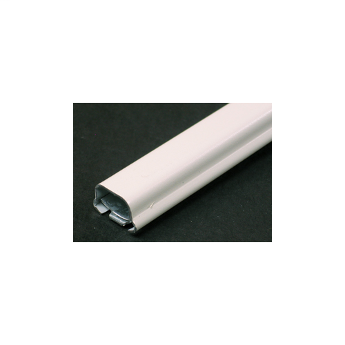 """Ivory 500 Series raceway from Wiremold is ideal for surface mounting small amounts of electrical wiring or communication cables. These rugged raceways offer a low profile appearance which blend with any decor. Available in our exclusive ScuffCoat finish in 10 foot lengths. For 5' lengths order  catalog numbers with the """"-5"""" suffix. Finish - Ivory"""