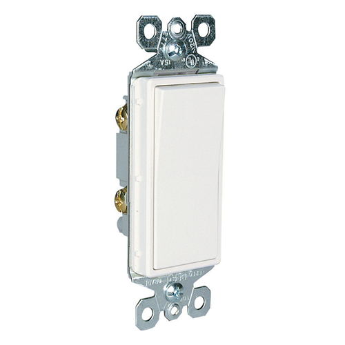 Pass & Seymour TM870-GRY 15 Amp 120/277 VAC 1-Pole Gray Thermoplastic Rocker Decorator Switch