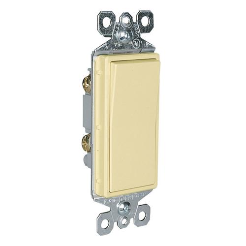 Pass & Seymour TM870-I 15 Amp 120/277 VAC 1-Pole Ivory Thermoplastic Rocker Decorator Switch