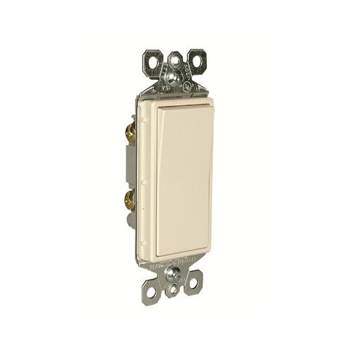Legrand TM870-LA Decorator Switch, 1Pole, 15A 120/277V Grounding, Light Almond