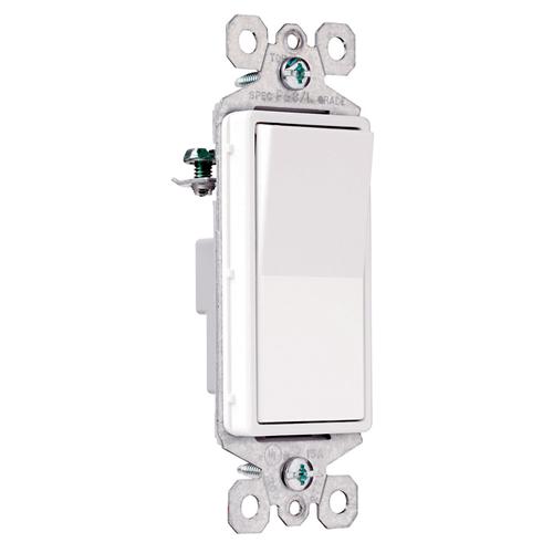 Pass & Seymour TM870-WSL 15 Amp 120 VAC 1-Pole White Thermoplastic Screw Mounting Illuminated Rocker Decorator Switch