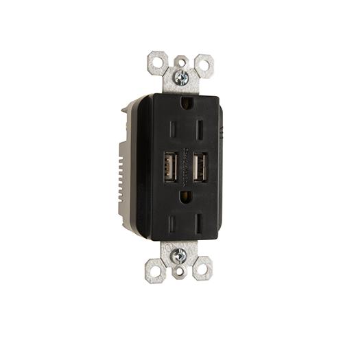 PASS TM-826USBBKCC6 3.1 USB + DUPLEX 15A BK