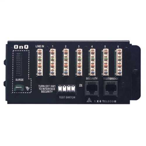 On-Q 1267062-01-V1 1 x 6 Basic Outlet Telecom Module