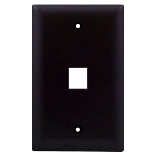 1-Gang, 1-Port Wall Plate, Brown