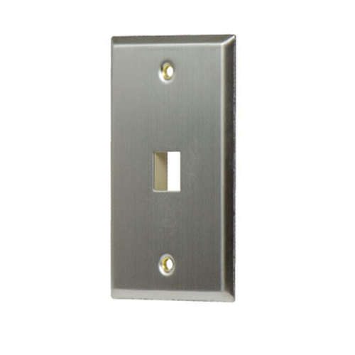 1-Gang, 1-Port Wall Plate, Stainless Steel