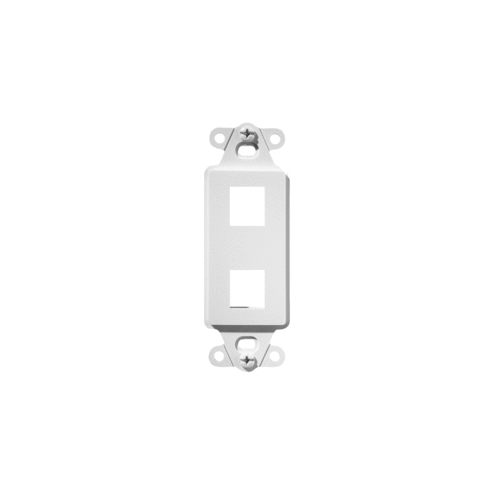 PS WP3412-WH 2-Port Decorator Outlet Strap, White