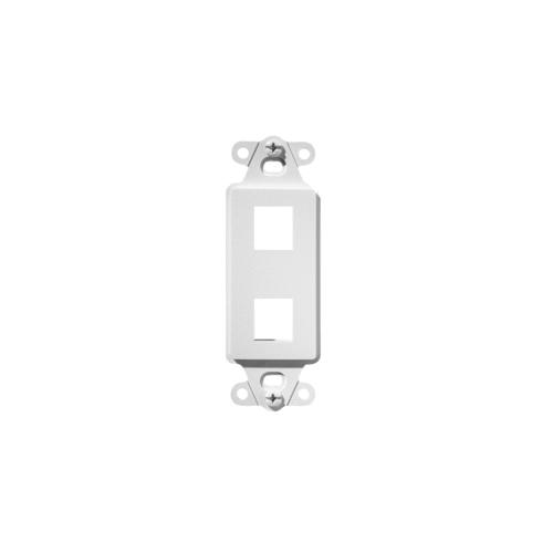 2-Port Decorator Outlet Strap, White