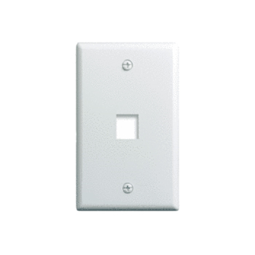 1-Gang, 1-Port Wall Plate, White