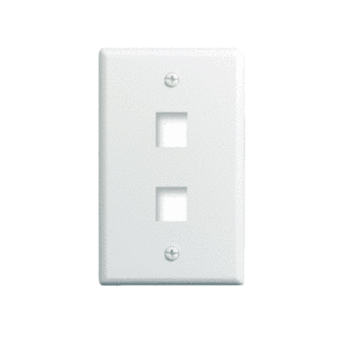 PS WP3402-WH 1-Gang, 2-Port Wall Plate, White