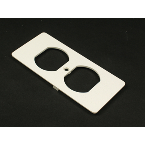 Wiremold 5507D-WH Non-Metallic Duplex White Faceplate