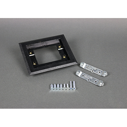 Wiremold 817PCC-BLK BLK POLY CPT FL 1-GANG (WIR 817PCC-BLK 1G RECTANGULAR PVC)