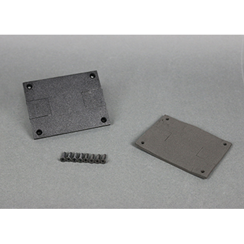 "Wiremold 829PSTC-BLK 3-3/16 x 4-1/8"" Black Polycarbonate Data Slide Floor Box Communication Cover Plate"