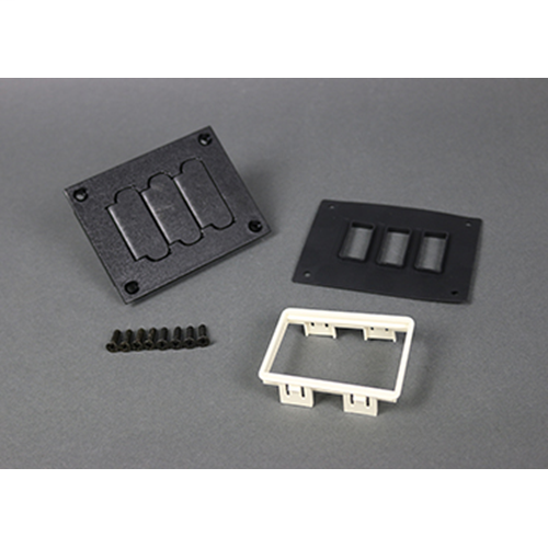 Wiremold 829PFL-BLK 3-3/16 x 4-1/8 Inch Black Polycarbonate Flip Lid Floor Box Communication Cover Plate