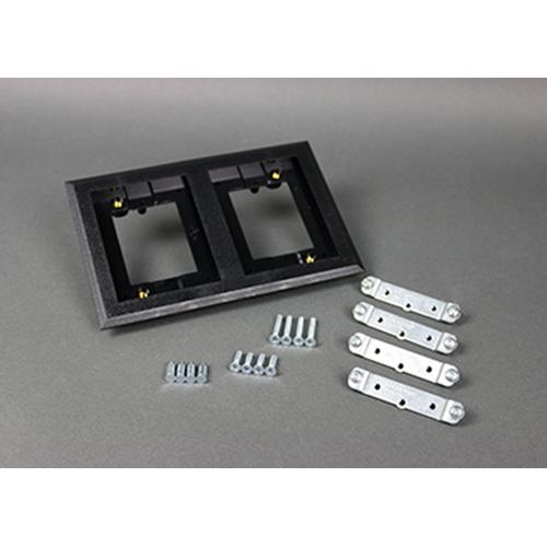 Wiremold 827PCC-BLK BLK POLY CPT FL 2-GA (WIR 827PCC-BLK 2G RECTANGULAR PVC)