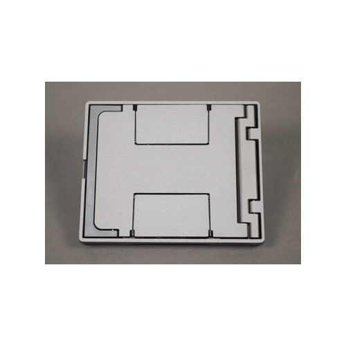 Wiremold FPBTAL 7-3/4 x 6-1/2 Inch Blank Top Tile Brushed Aluminum Floor Box Blank Cover Assembly