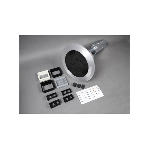 Wiremold AV3ATCBK 4 Inch 20 Amp Black Surface Style Assembled Poke-Through Device