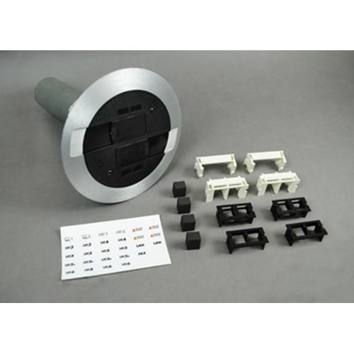 "Wiremold RC9AMDTCBK 7 x 10"" Black Poke-Through Assembly"