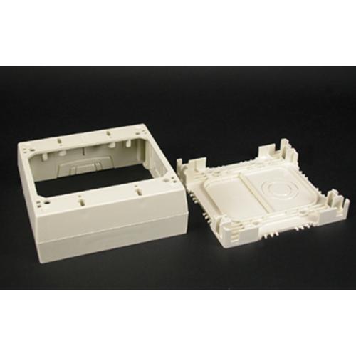 """Wiremold 2348-2-WH 4-3/4 x 4-7/8 x 1-3/4"""" White Non-Metallic 1-Channel Raceway 2-Gang Deep Device Box"""