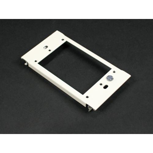 "Wiremold G6007C-1 2-1/2"" Gray Steel Multiple Channel Raceway 1-Gang Device Plate"